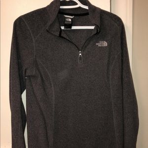 North face grey pullover
